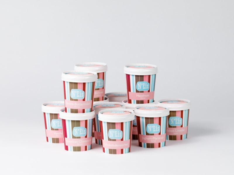 Wunschset aus 12 frei wählbaren 130 ml Bechern im N'Eis Shop